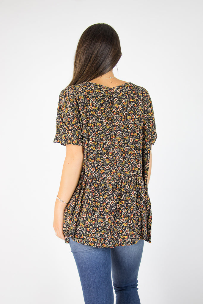 Hallie Floral Top - Madison + Mallory