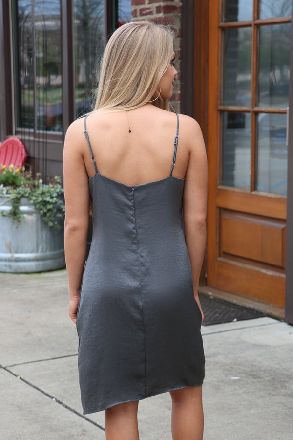 Satin Slip Dress - Madison + Mallory