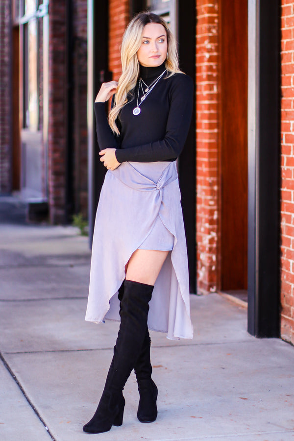 By Moonlight Satin Skirt - Madison and Mallory