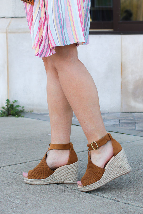 Off to Anywhere Espadrille Wedges - Madison + Mallory