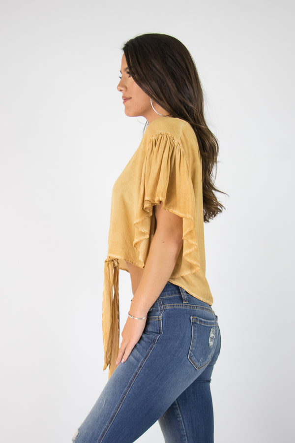 Anita Tie Top - FINAL SALE - Madison + Mallory