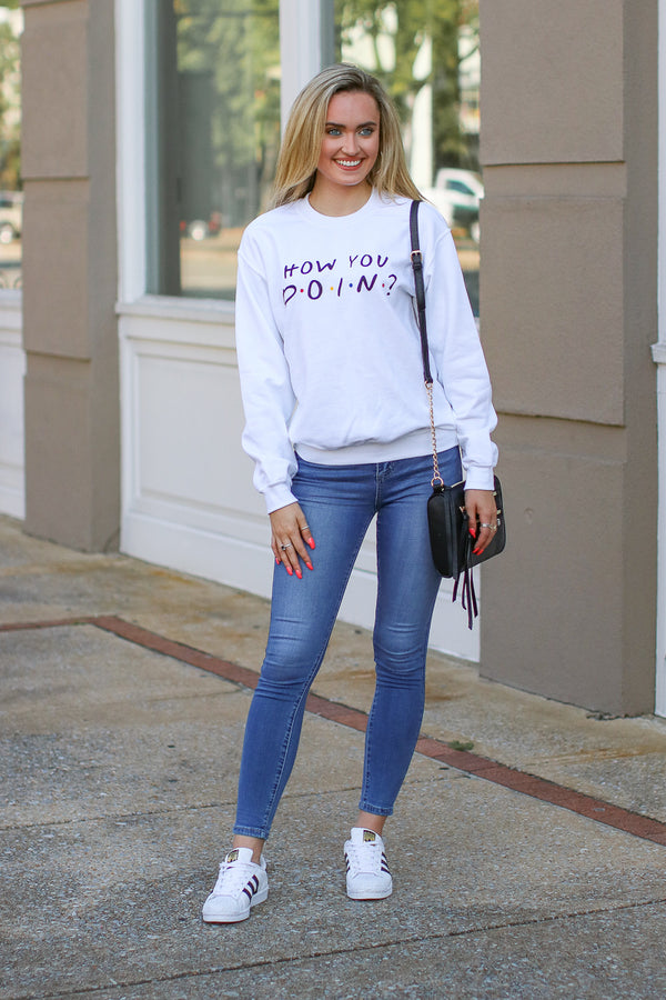 How You Doin? Graphic Sweatshirt - Madison + Mallory