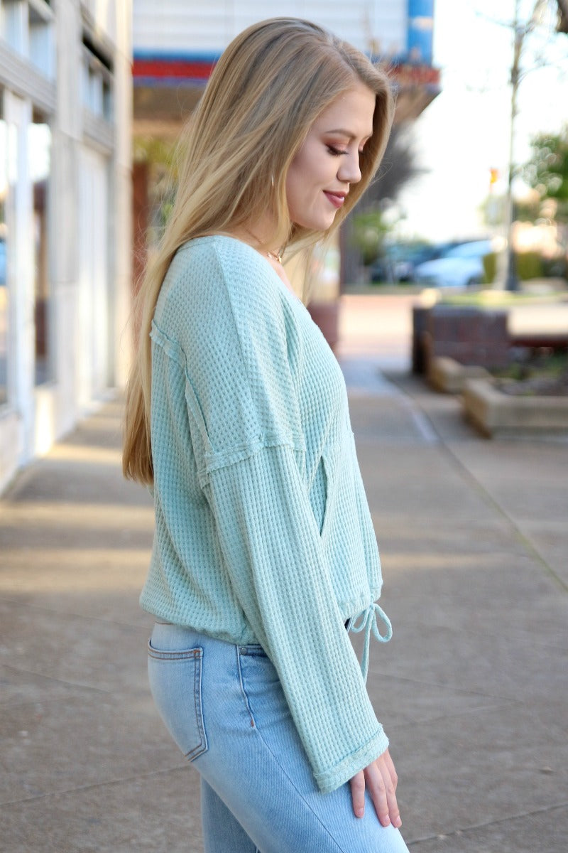 Thermal Drawstring Top - Madison + Mallory