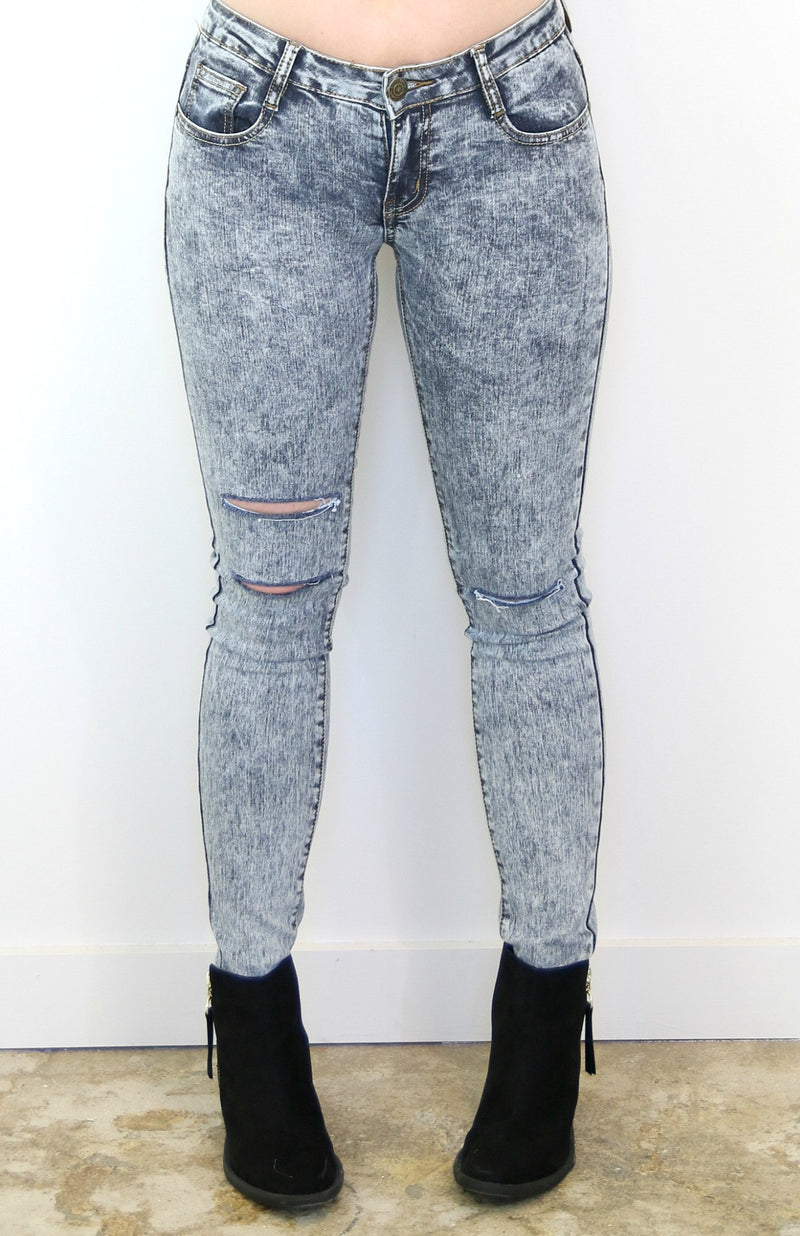 Jen Acid Wash Jeans - Madison + Mallory
