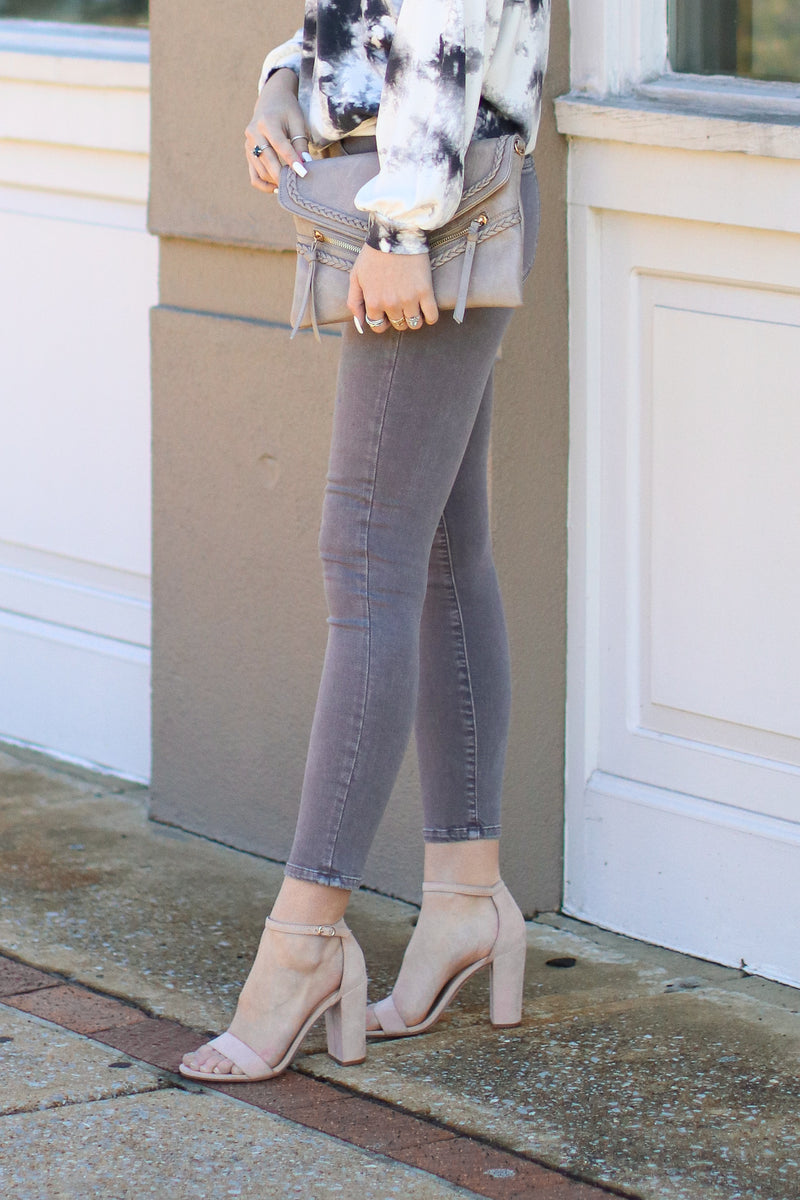 Andor Vintage Washed Gray Skinny Jeans - Madison and Mallory