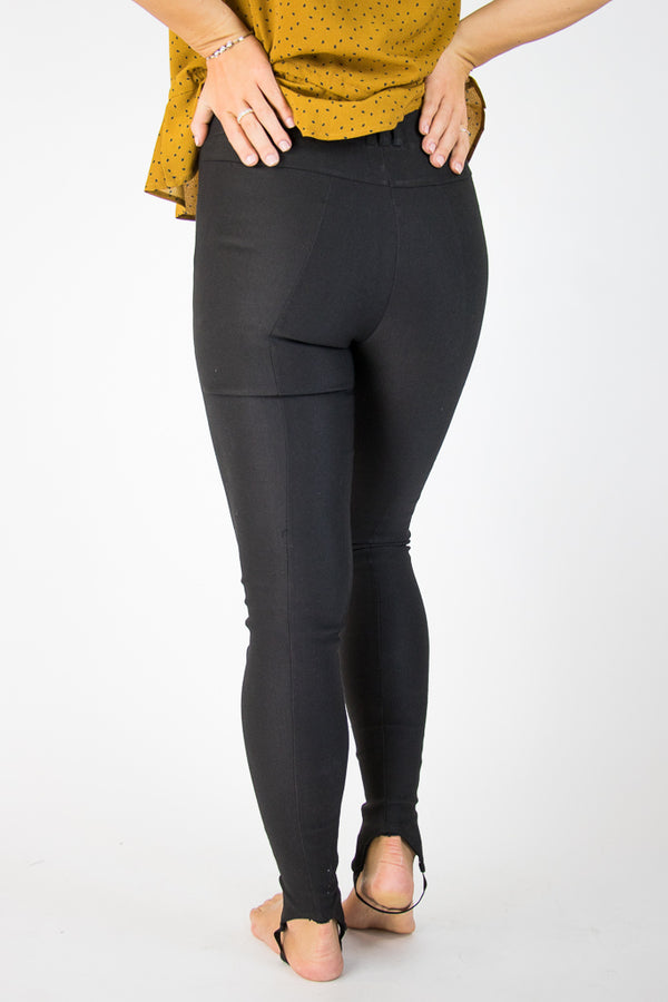 Black Stirrup Jeggings - Madison + Mallory