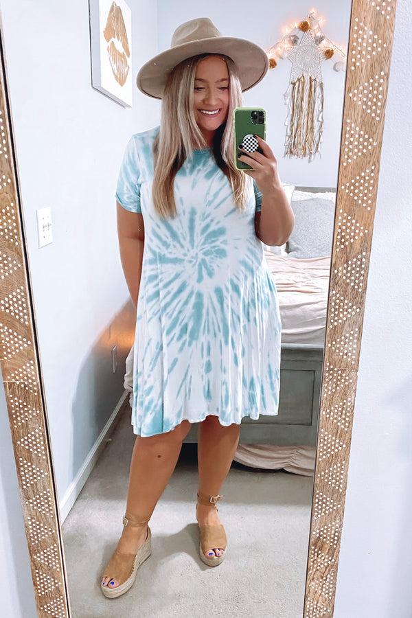 Proxima Tie Dye Swirl Dress - FINAL SALE - Madison and Mallory