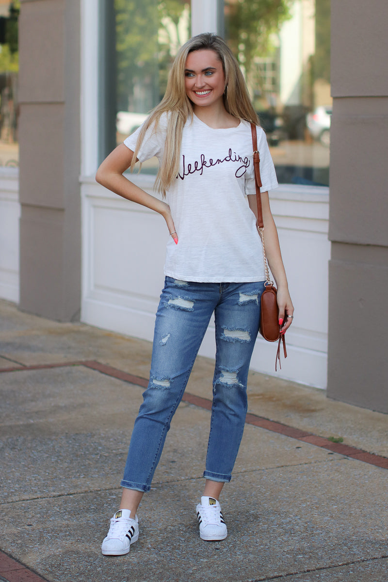 Weekending Graphic Top - Madison + Mallory