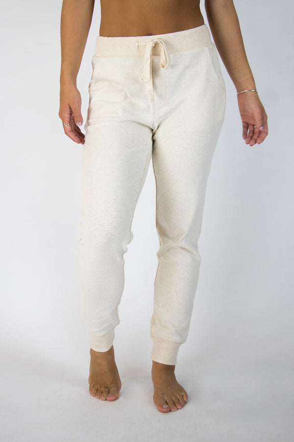 Cream / M Super Soft Brushed Knit Joggers - Madison + Mallory