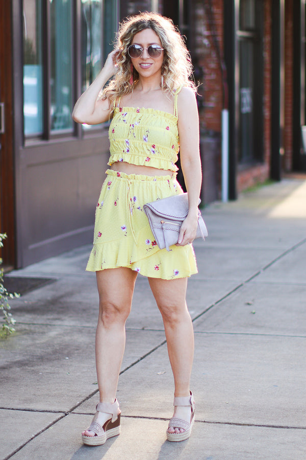 Calla Floral Skirt - FINAL SALE - Madison + Mallory