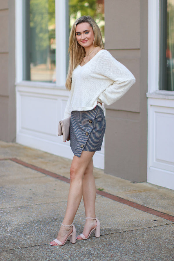 Problem Solved Button Skirt - Madison + Mallory