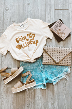 Chin Up Buttercup Graphic Top - Madison and Mallory