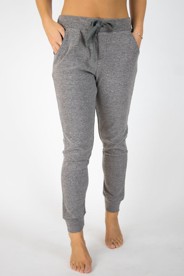 Charcoal / XS Super Soft Brushed Knit Joggers - Madison + Mallory