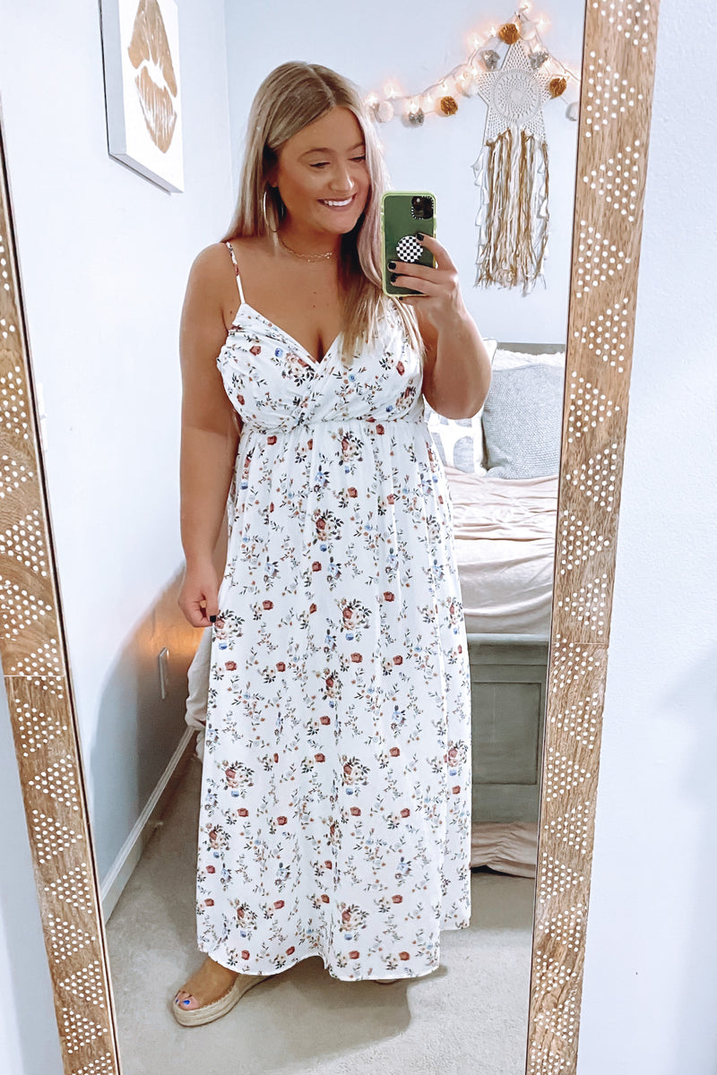 Carnation Floral Maxi Dress - Madison and Mallory
