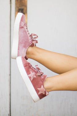 Velvet Star Sneakers - Madison + Mallory