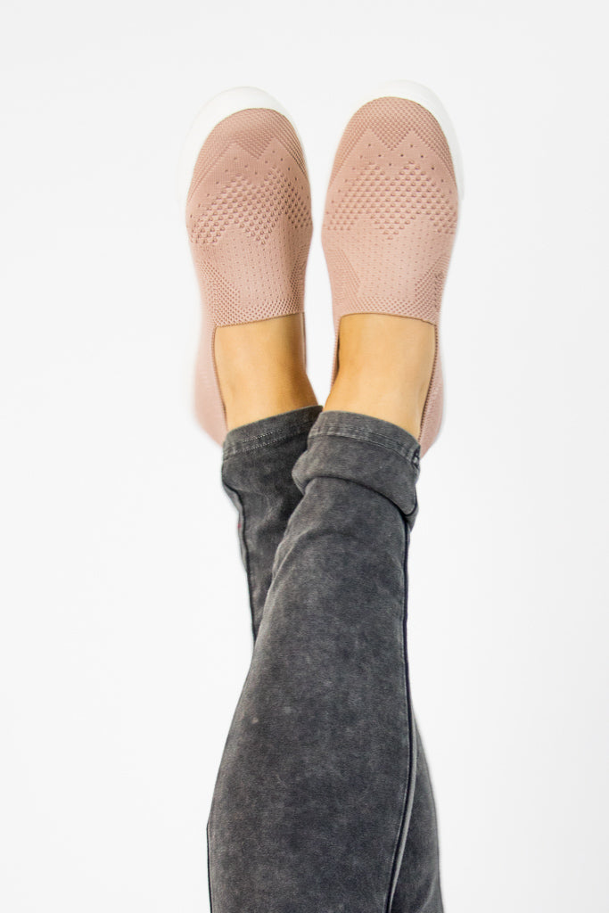 Stretch Knit Slip On Sneakers - Madison + Mallory
