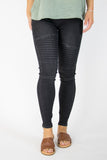 S / Black Moto Jeggings - Madison + Mallory