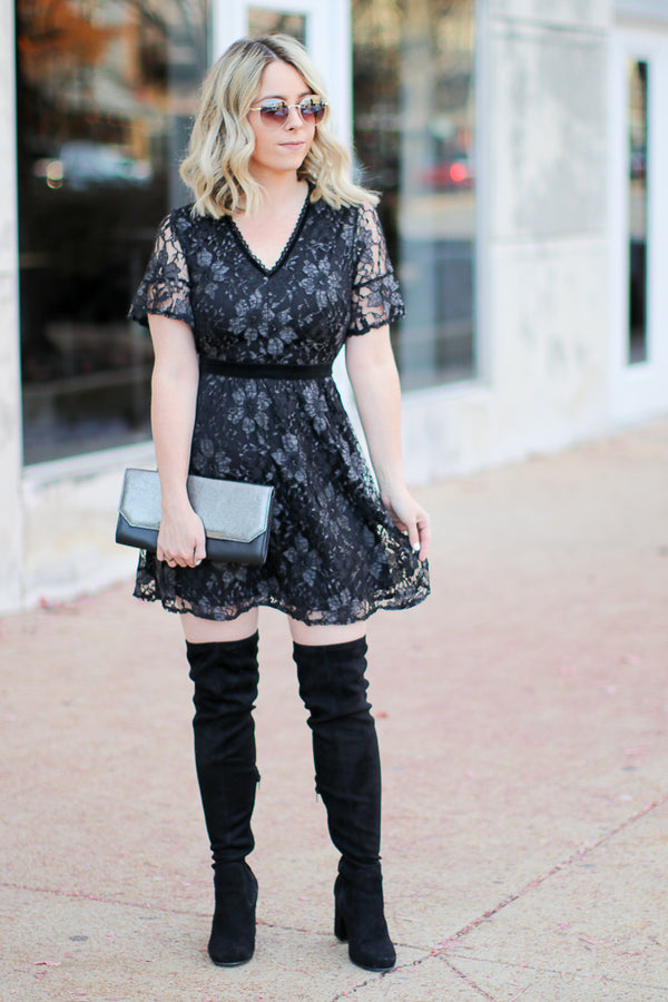 Vicky Floral Lace Dress - Madison + Mallory