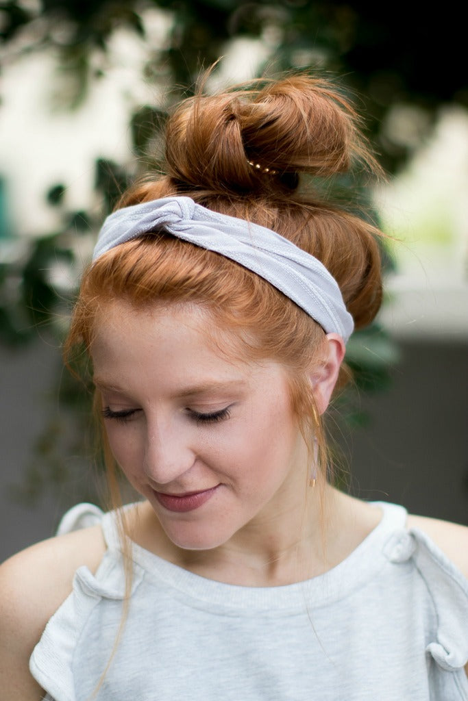 Striped Stitch Twist Headband - Madison + Mallory