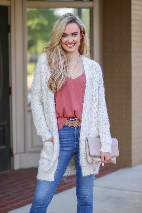 SM / Pastel Just Desserts Multi Color Cardigan - FINAL SALE - Madison and Mallory