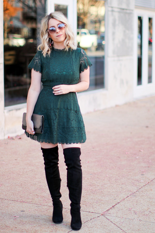 Taken by You Lace Dress - Madison + Mallory
