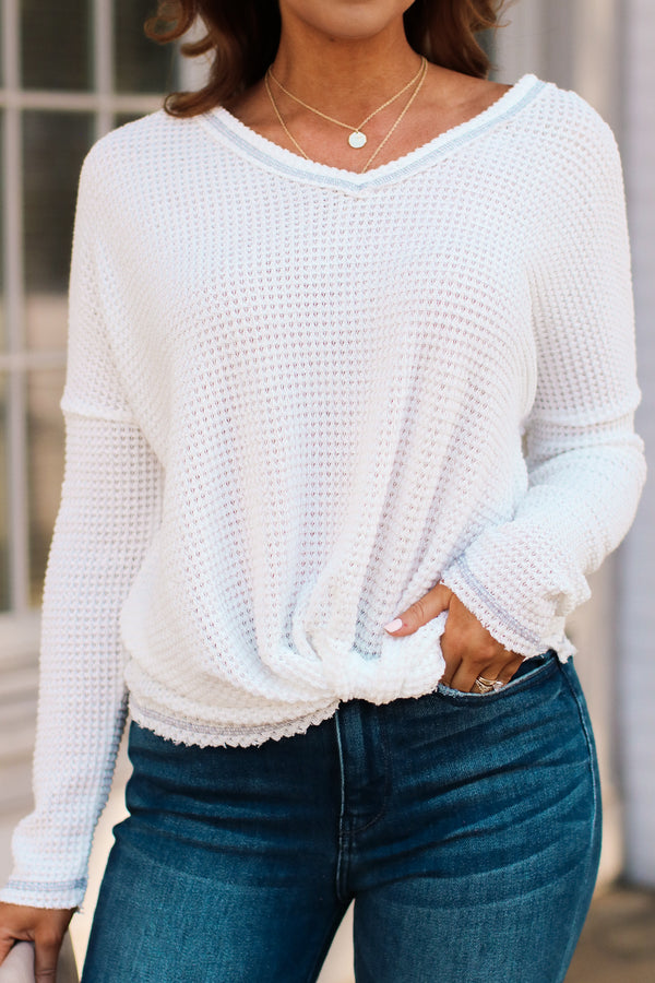 White / S Josiah Twist Front Top - White - Madison + Mallory