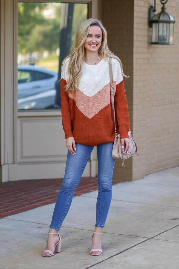 Perfect Target Chevron Knit Sweater - Madison + Mallory