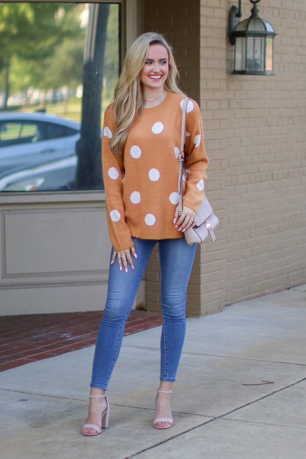 Perfect in Polka Dots Sweater | S-3X - Madison + Mallory