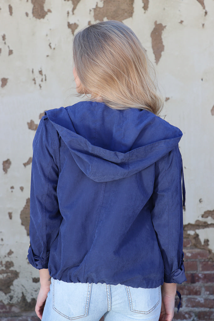 Drawstring Utility Jacket - Madison + Mallory