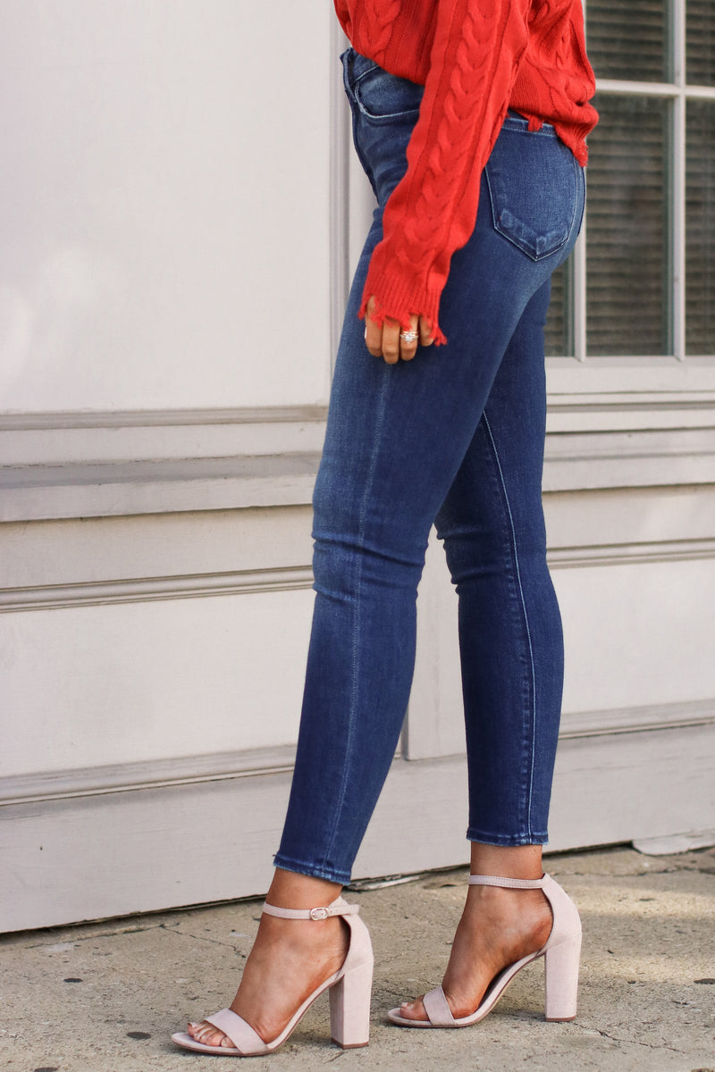 Lona Dark Wash Skinny Jeans - FINAL SALE - Madison and Mallory
