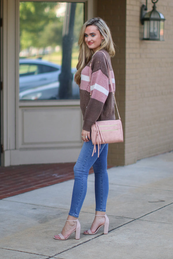 Simply Wishing Color Block Striped Sweater - Madison + Mallory