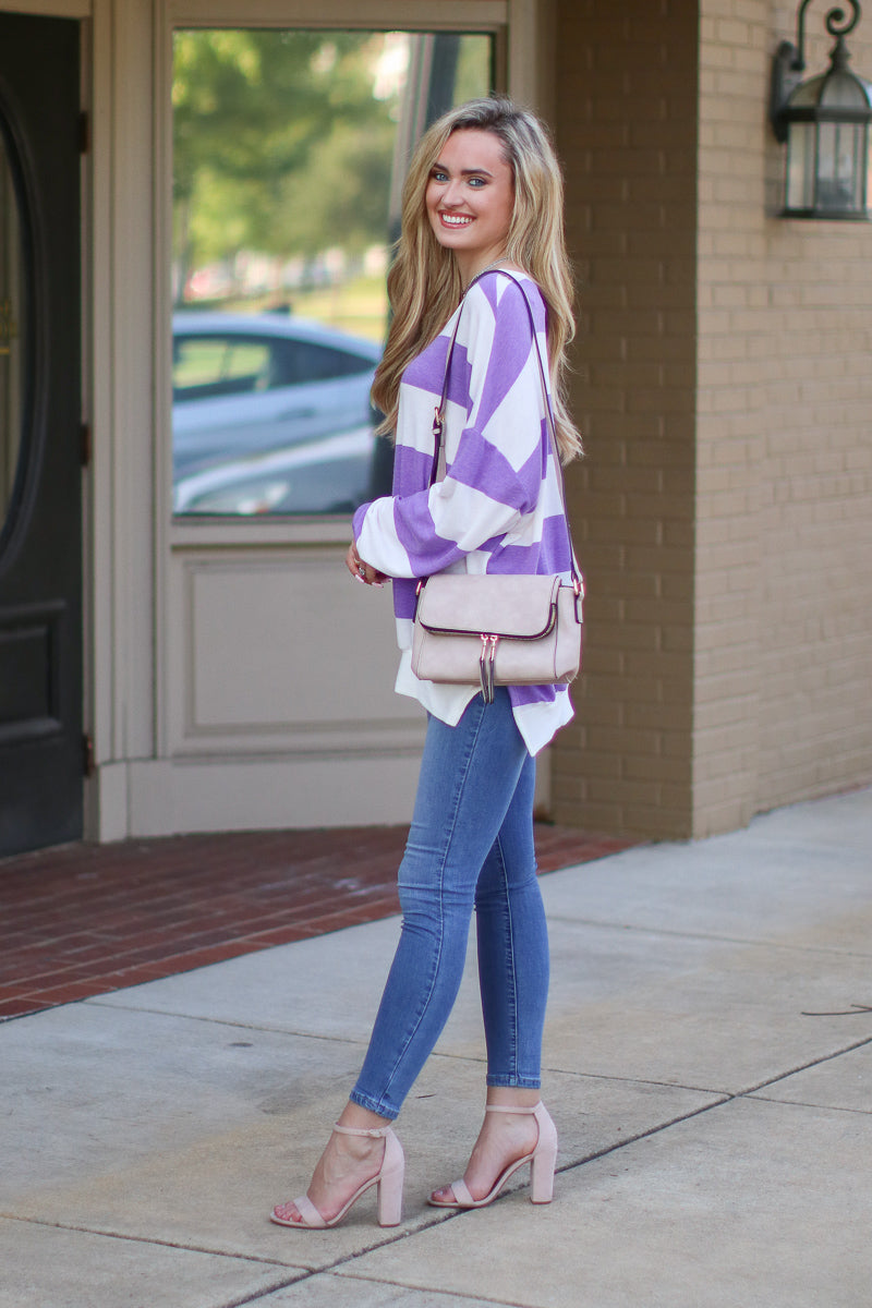 Casual Crush Striped Pullover - Madison + Mallory