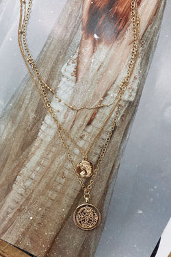 Gold Gilded Dreams Layered Coin Necklace - Madison and Mallory
