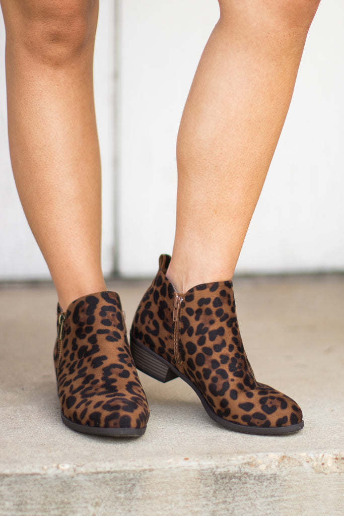 Leopard Booties - Madison + Mallory