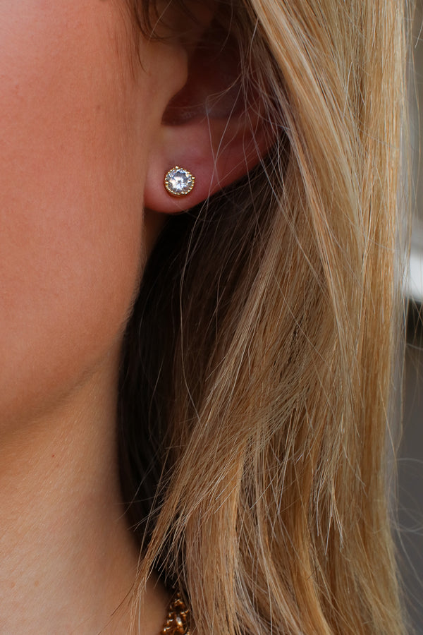 Gold Simplistic Bliss Stud Earring Set - Madison + Mallory