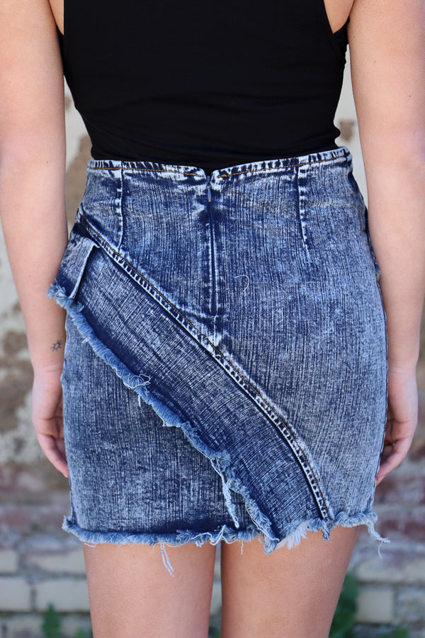 Making Me Crazy Denim Skirt - Madison + Mallory