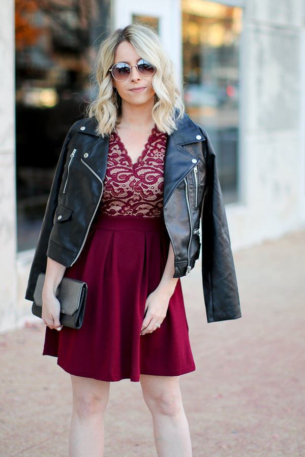 Shock to the Heart Lace Dress - Madison + Mallory