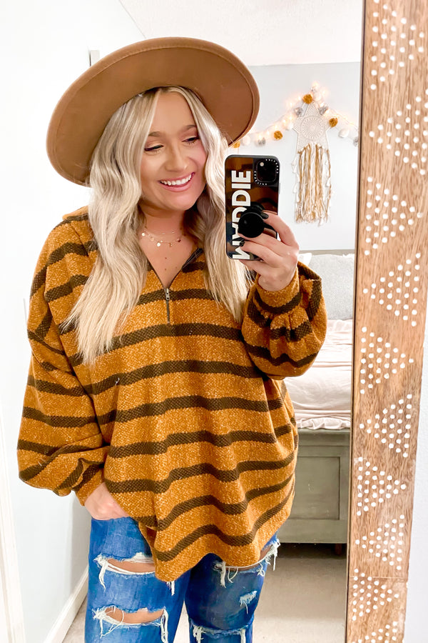 Charter Relaxed Striped Hooded Top - Madison and Mallory