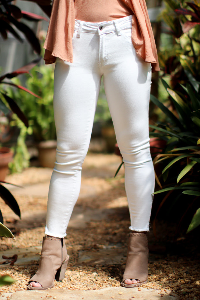 Hannah Ankle Zip Jeans - Madison + Mallory