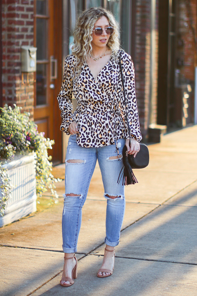 S / Leopard Wild Heart Leopard Top - Madison + Mallory