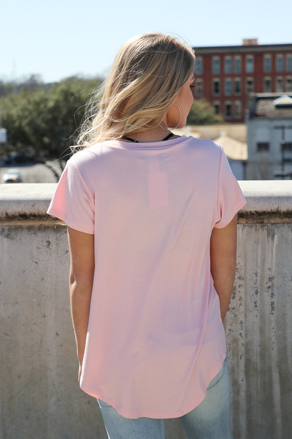 Off Grid Baseball Hem Tee - Madison + Mallory