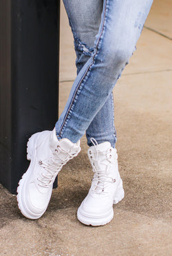 White / 5.5 Venya High Top Sneaker - Madison and Mallory