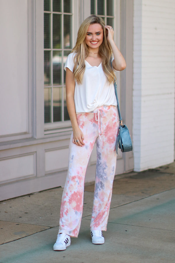 Name of the Game Tie Dye Pants - Madison + Mallory