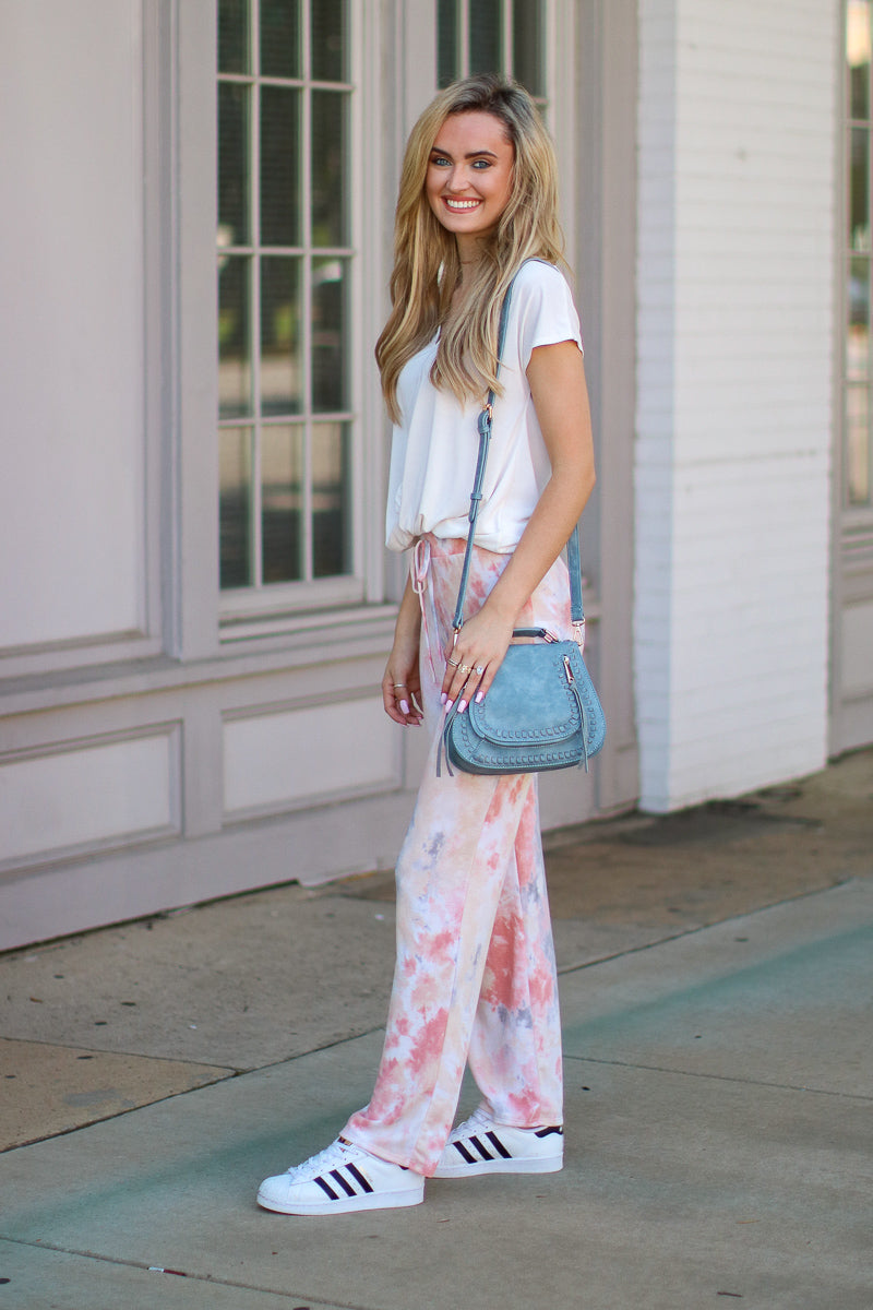 Name of the Game Tie Dye Pants - FINAL SALE - Madison + Mallory