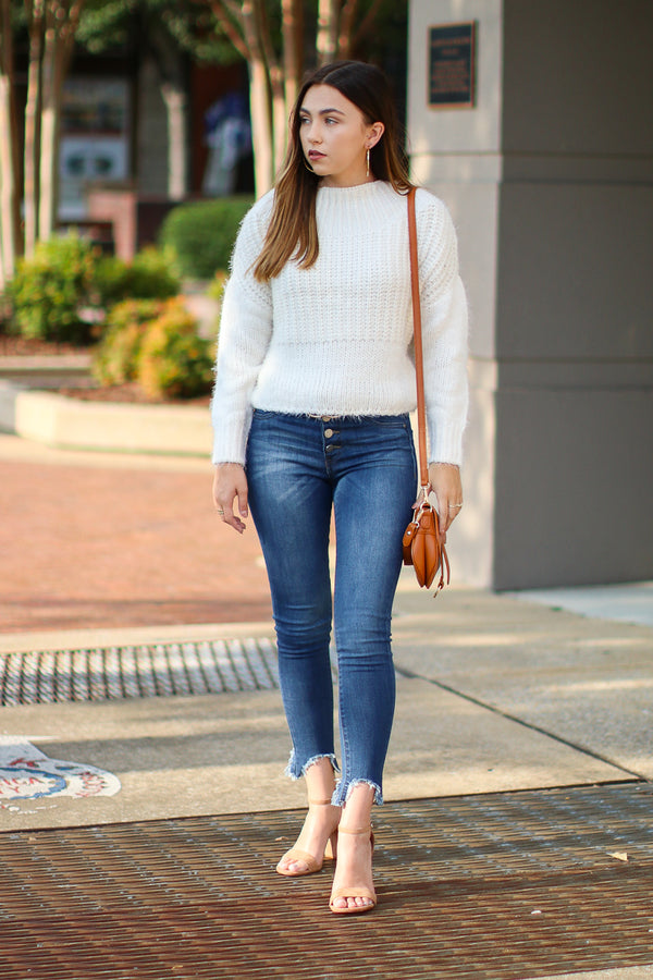 Dash Super Soft Sweater - Ivory - Madison + Mallory