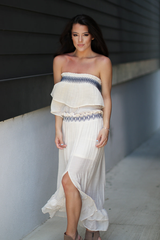 Cai Embroidered Maxi Skirt - FINAL SALE - Madison + Mallory