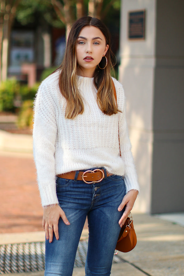 Ivory / S Dash Super Soft Sweater - Ivory - FINAL SALE - Madison and Mallory