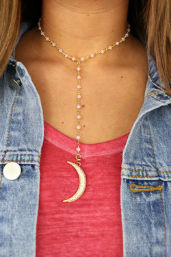 OS / Pink Raw & Rebellious - Silver Lining Necklace - Madison + Mallory