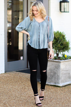 In a Daze Distressed Black Jeans - FINAL SALE - Madison and Mallory