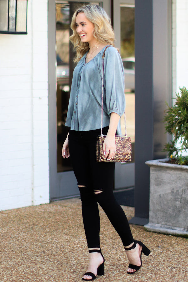 In a Daze Distressed Black Jeans - Madison + Mallory